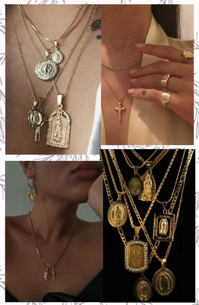 La tendance des bijoux vintage se nourrit principalement de l\u0027imagerie  religieuse et particulièrement des codes catholique croix, médailles de la  vierge ou
