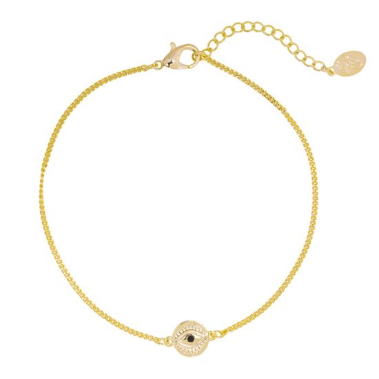 bracelet plaqué or oeil bijoux tendance bohème grigri en entier