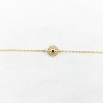bracelet plaqué or oeil bijoux tendance bohème grigri