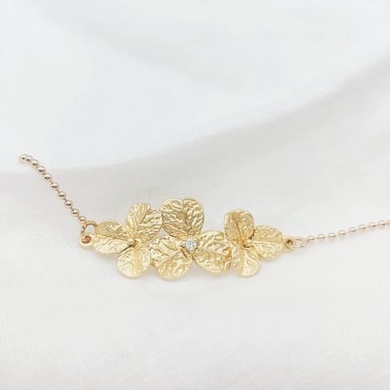 bijou tendance bohème plaqué or bracelet bille fleurs zircon
