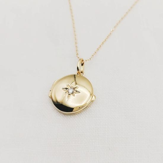 collier long sautoir plaqué or médaille médaillon photo étoile bijoux tendance