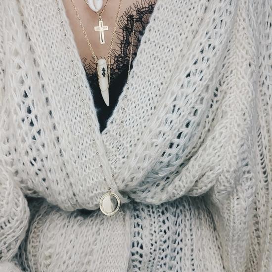 bijou tendance de créateur fait main bague chaine coeur plaqué or collier corne os cristal swarovski