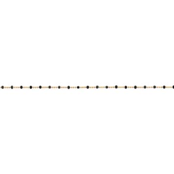 bijou tendance bohème plaqué or bracelet bille perle noir email