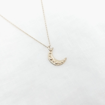 bijoux tendance bohème collier médaille lune plaqué or