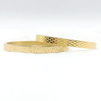 bijoux tendance bracelet jonc doré imprimé léopard animal serpent acier inoxydable