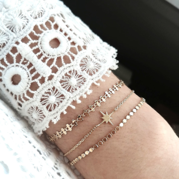 bijoux créateur tendance bohème 7 bracelet jonc plaqué or étoile