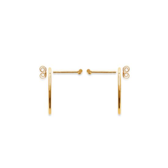 bijoux boucles d'oreilles plaqué or puce contour d'oreilles dessous de lobe creole géometrique barre systeme de fermeture
