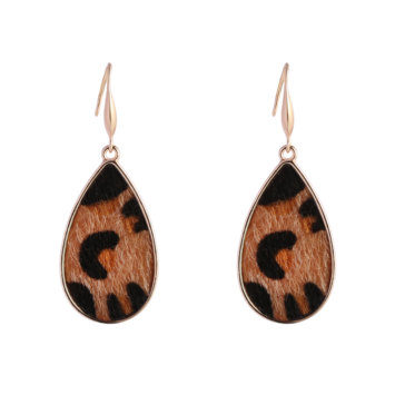 bijoux tendance boucles d'oreilles imprimé léopard fausse fourrure