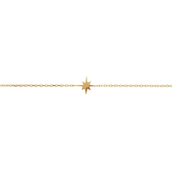 bijoux tendance bracelet intemporel plaqué or étoile
