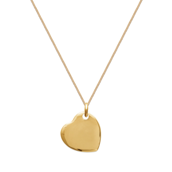 bijoux tendance long collier sautoir 80 cm plaqué or médaille coeur