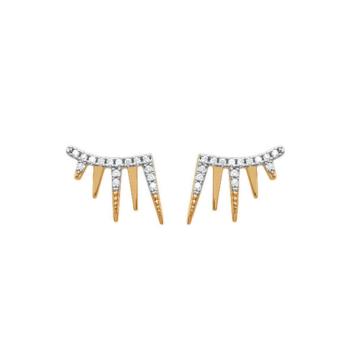 bijoux boucles d'oreilles plaqué or puce contour d'oreilles rock strass