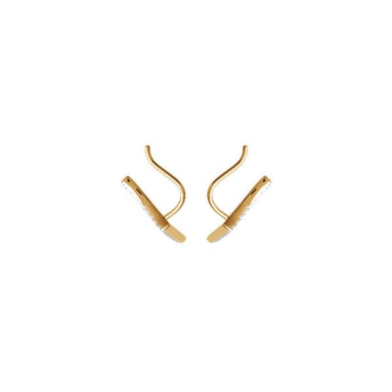 bijoux boucles d'oreilles plaqué or puce contour d'oreilles rock strass crochet