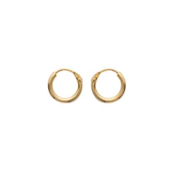 bijoux boucles d'oreilles plaqué or petites créoles 10 mm simple basique