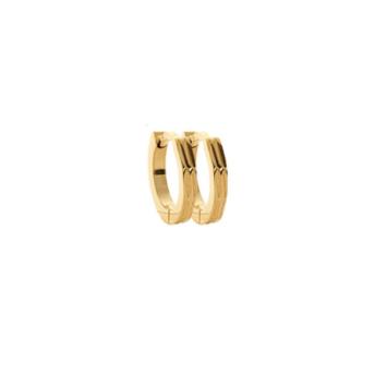 bijoux boucles d'oreilles plaqué or petites créoles 10 mm simple basique profil