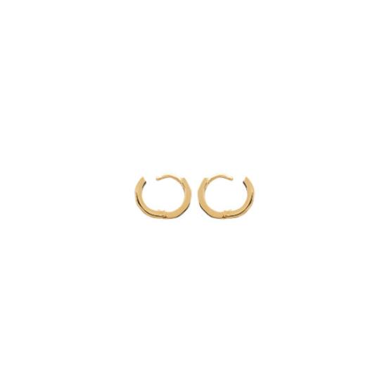 bijoux boucles d'oreilles plaqué or petites créoles 10 mm systeme ouverture fermeture simple