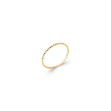 bijoux tendance bague anneau alliance fine tresse plaqué or