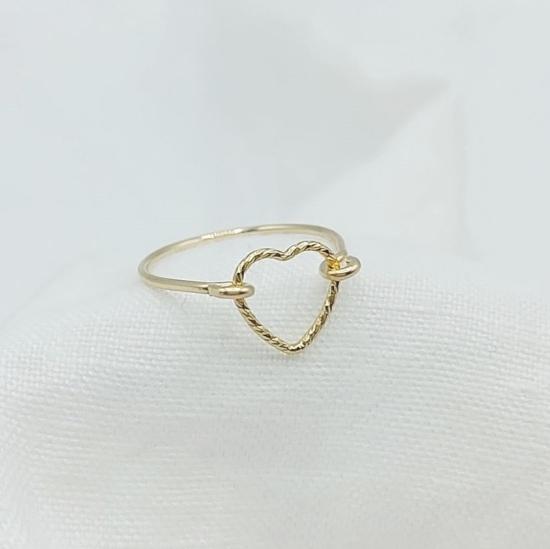 bijoux créateur bague coeur fait main or