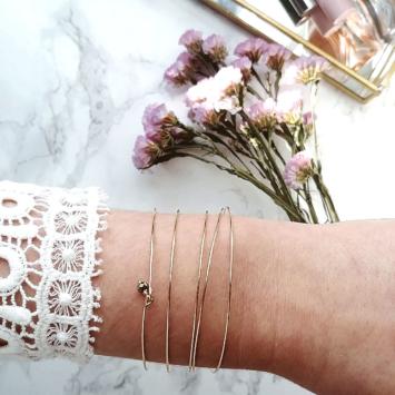 bijoux créateur tendance bohème 7 bracelet jonc semainier plaqué or perle pyrite fin pierre gemme intemporel