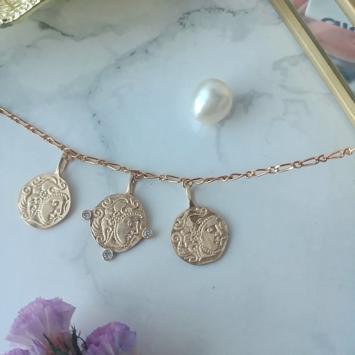 bijou tendance bohème bracelet intemporel médaille pièce antique