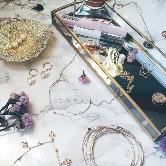 bijoux tendance collier grand coeur penché fil plaqué or fait main créateur france