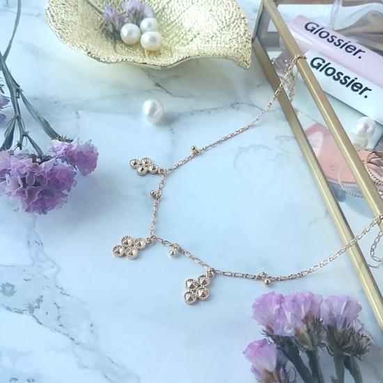 bijou createur tendance bohème collier plaqué or boule et croix choker