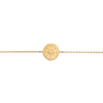 bijoux tendance bracelet médaille antique croix plaqué or