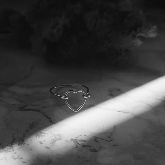 bijoux créateur bague coeur fait main argent 925