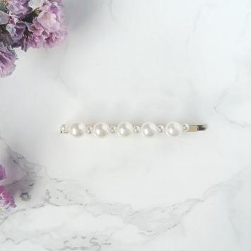fine barrette perles brodées tendance accessoire cheveux