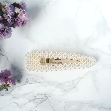 grande barrette xl perles brodées tendance accessoire cheveux