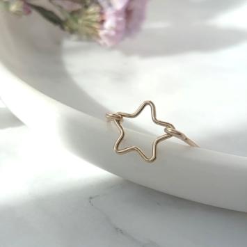 bijoux créateur bague étoile fait main plaqué or