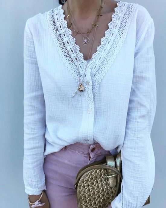 bijoux créateur fait main collier pendentif lettre initiale en perles sautoir look instagram flavie
