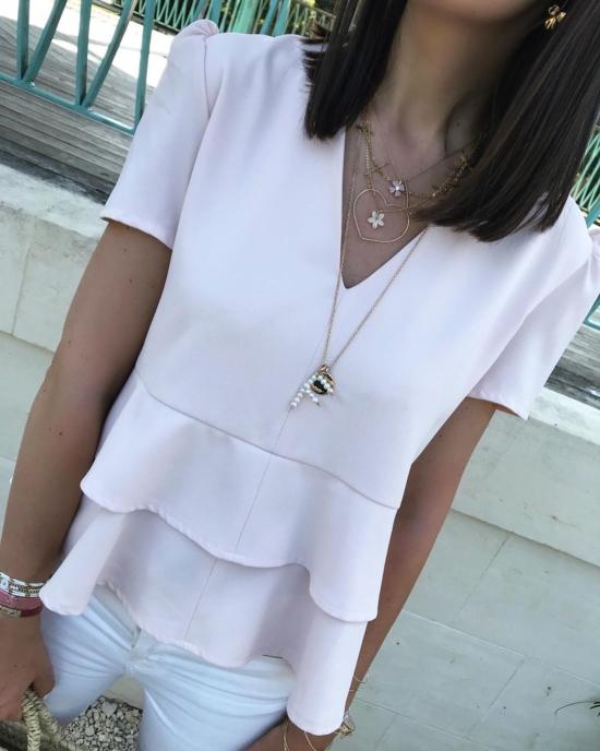 bijoux créateur fait main collier pendentif lettre initiale en perles sautoir look instagram flavie look