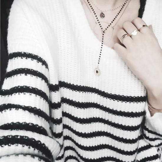 bijou tendance de créateur fait main plaqué or collier