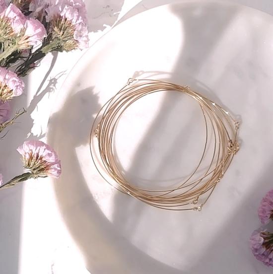 bijoux créateur tendance bohème 7 bracelet jonc semainier plaqué or