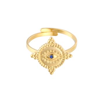 bijoux tendance bohème oeil porte bonheur doré acier inoxydable