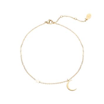bijoux tendance été bracelet chaîne de cheville étoile et lune plaqué or
