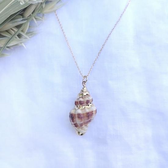 bijoux tendance été collier coquillage plaqué or