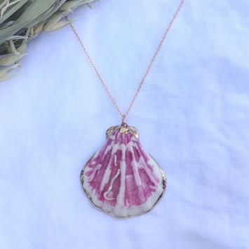 bijoux tendance été sautoir collier coquillage plaqué or