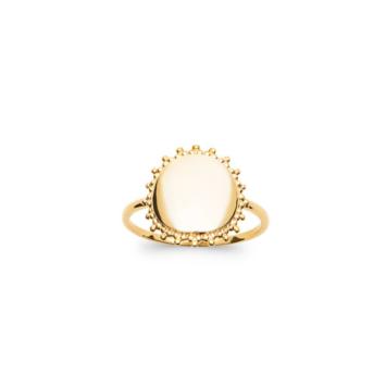 bijoux tendance bague médaille soleil plaqué or