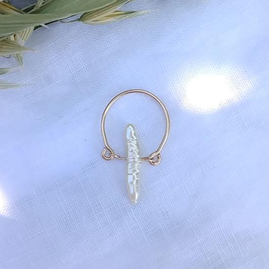 bijoux créateur tendance bohème bague perle or fait main