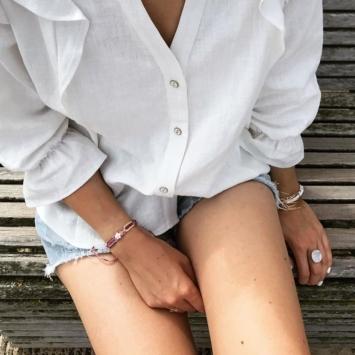 bracelet brésilien tendance été fleur nacre instagram flaflavflavia flavie