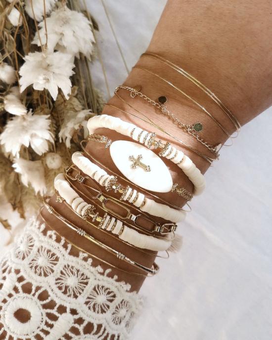 bracelets tendance fait main bracelet heishi surfer bohème joncs destroy bracelet bijoux créateur