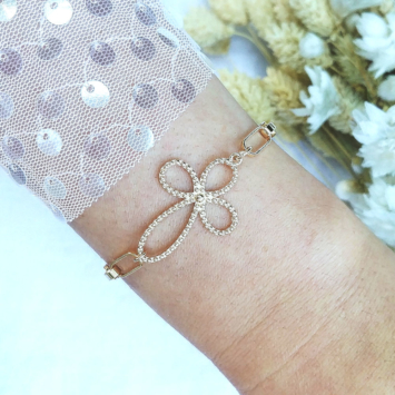 bijoux bracelet tendance néo bourgeoise gros maillons croix fait main bijoux créateur france