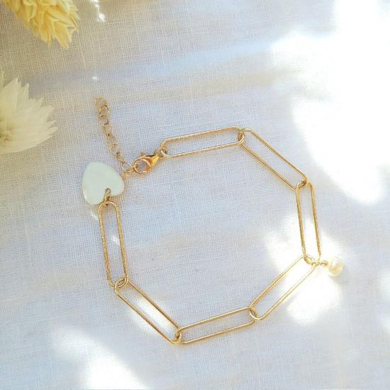 bijoux bracelet tendance néo bourgeoise gros maillons perle fait main bijoux créateur france