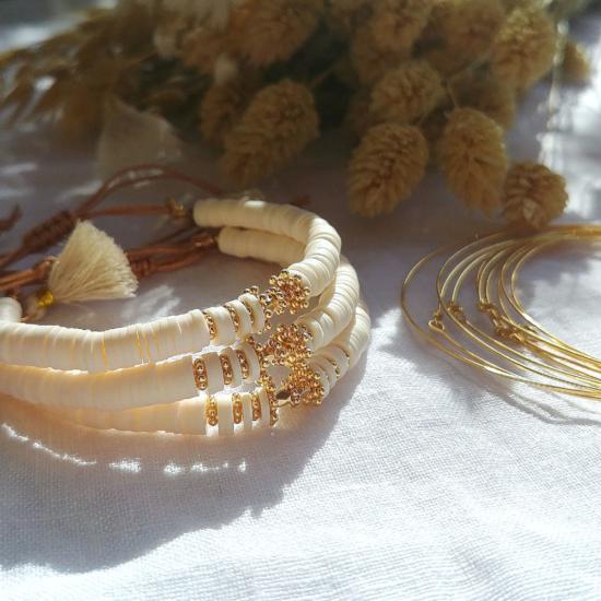 bracelet heishi perles bali bohème