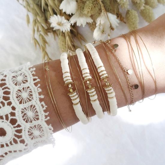 bracelet heishi perles bali bohème joncs destroy