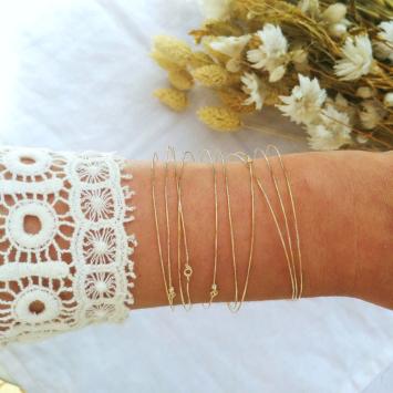 bijoux créateur tendance 7 bracelets joncs semainier destroy plaqué or fait main