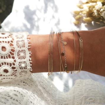 bracelets tendance fait main bohème joncs destroy bracelet pastilles or bijoux créateur