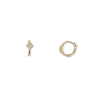 bijoux tendance boucles d'oreilles mini créoles plaqué or zircon bohème