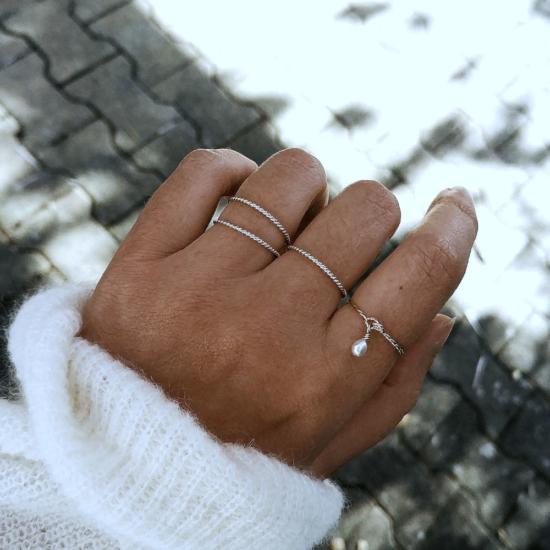 bague anneau perle bijoux createur fait main france